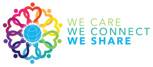 We Care, We Share, We Connect Logo